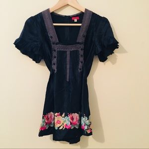 Free People | Tie-Waist Silk Blouse